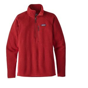 Men's Red Patagonia quarter zip